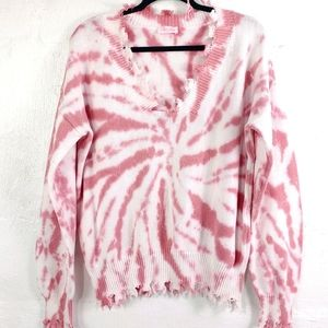 PINK LILY TIE DYED SWEATER (497)